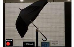 Тест зонта трости Knirps на скорости 140 км/час